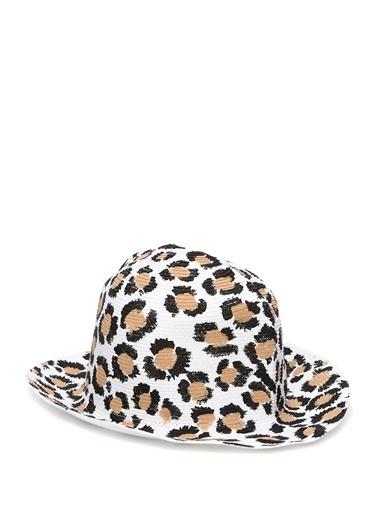 Catarzi Filippo Catarzi  Leopar Desenli Kadın Şapka 101508888 Beyaz